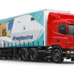 Liege Airport - bâche camion - avion