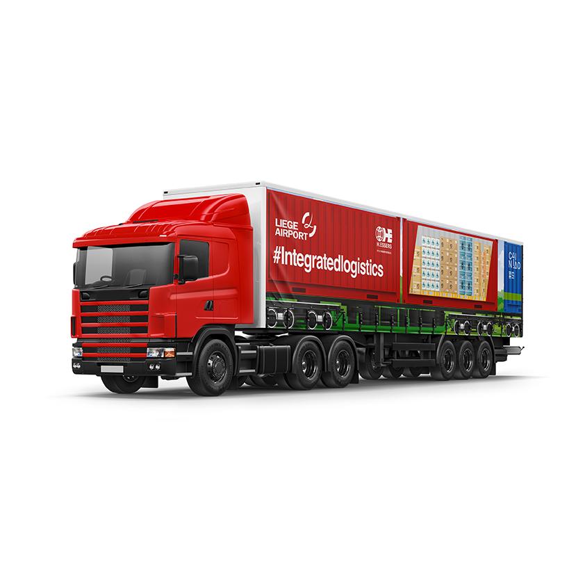 Liege Airport - bâche camion